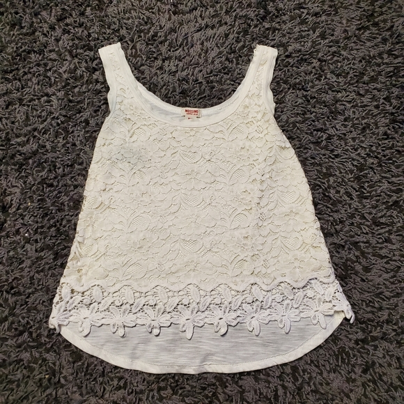 Mossimo Supply Co. Tops - Medium White Lace Tank Top